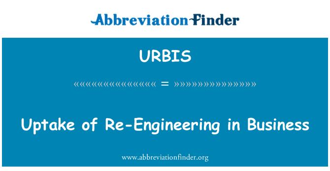 URBIS: Uptake of Re-Engineering in Business