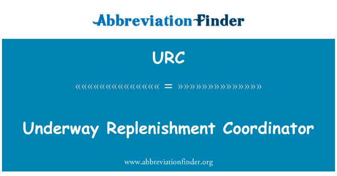 URC: En marcha Coordinador de reposición