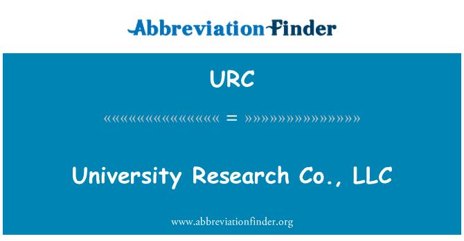 URC: University Research Co., LLC