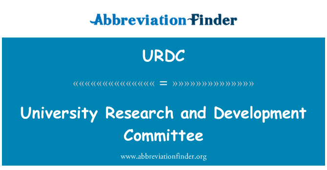 URDC: University Research and Development Committee