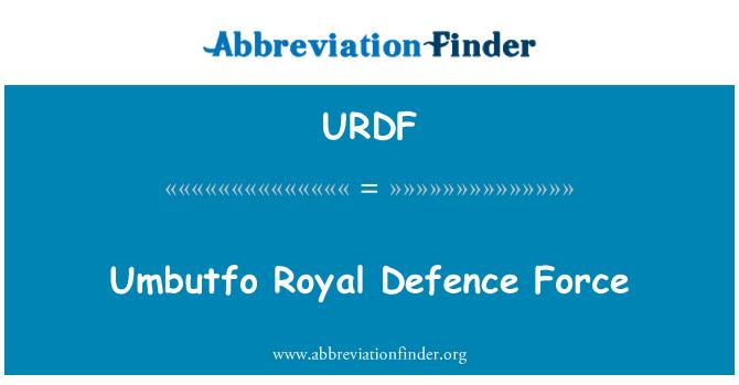 URDF: Umbutfo Royal Defence Force