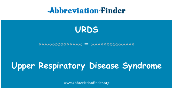 URDS: Upper Respiratory Disease Syndrome
