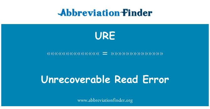 URE: Error irrecuperable de lectura