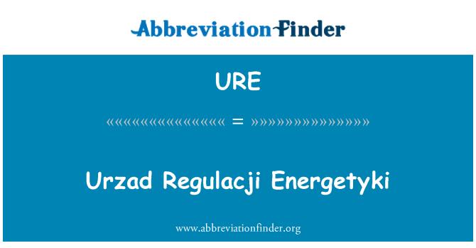 URE: Urzad Regulacji Energetyki
