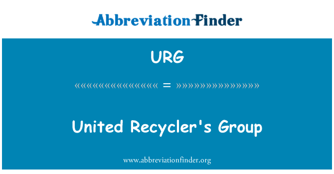 URG: United Recycler's Group