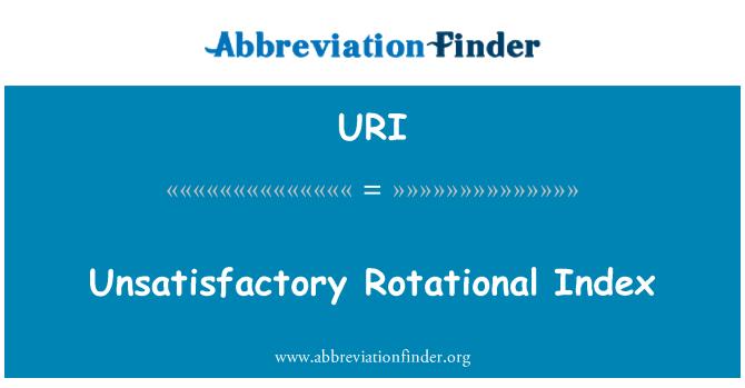 URI: Unsatisfactory Rotational Index