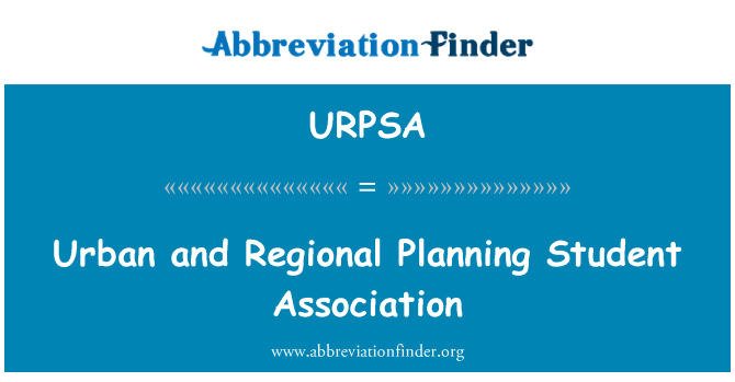 URPSA: Urban and Regional Planning Student Association