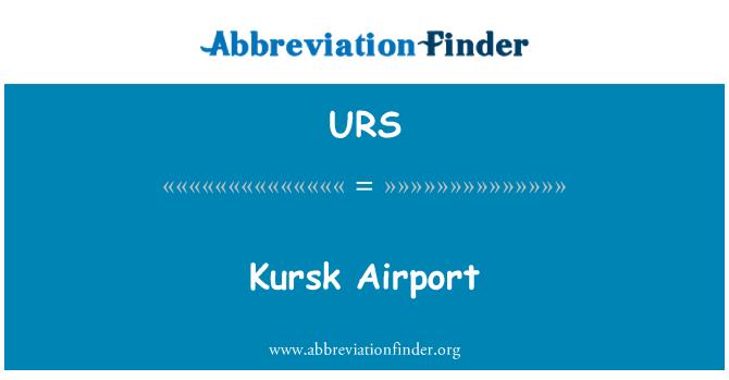 URS: Aeropuerto de Kursk