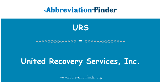 URS: United Recovery Services, Inc.