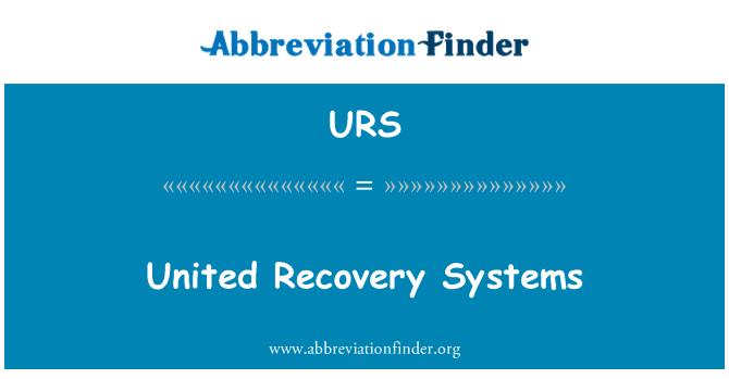 urs definition united recovery systems forkortelse finder