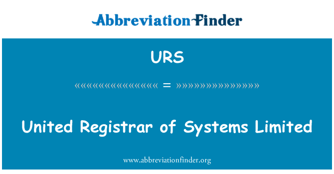URS: United Registrar of Systems Limited