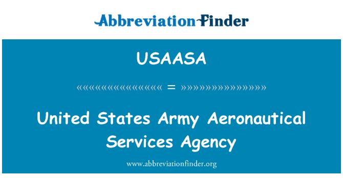 USAASA: Sjedinjene Američke Države vojske zrakoplovne usluge agencija