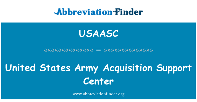 USAASC: United States Army Acquisition Support Center