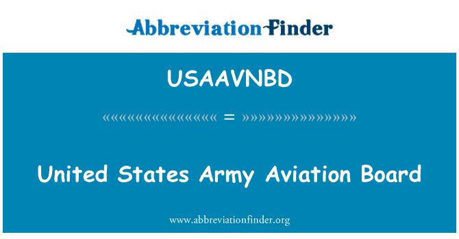 USAAVNBD: Ameerika Ühendriikide Army Aviation juhatuse