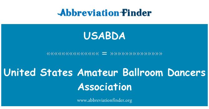 USABDA: ABD amatör balo salonu dansçı Derneği