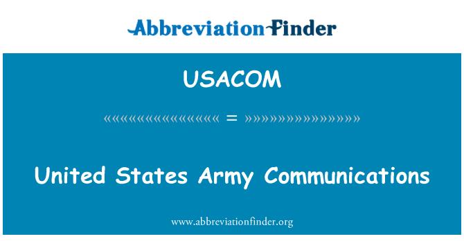 USACOM: Comunicaciones del ejército de Estados Unidos