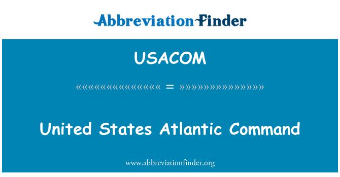 USACOM: 美国大西洋司令部
