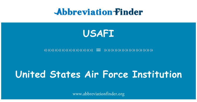 USAFI: United States Air Force Institution