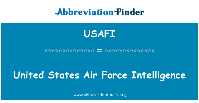 USAFI: United States Air Force Intelligence