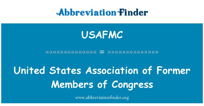 USAFMC: Sad udruge bivših članova Kongresa