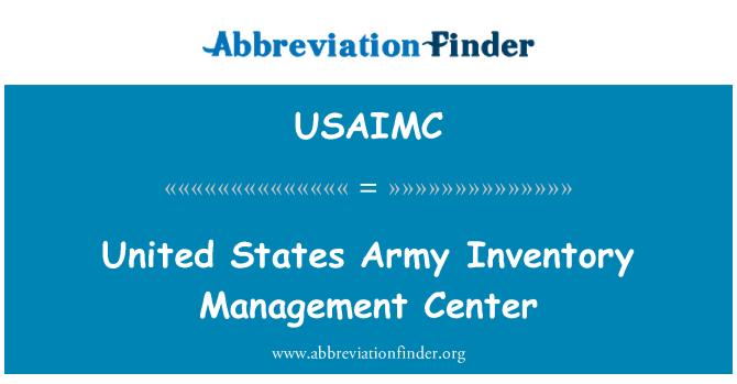 USAIMC: United States Army Inventory Management Center