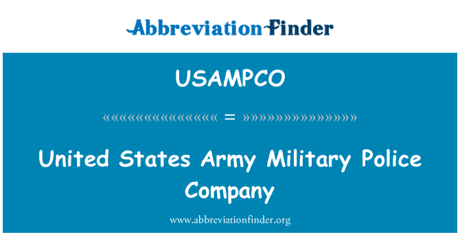 USAMPCO: United States Army Military Police Company
