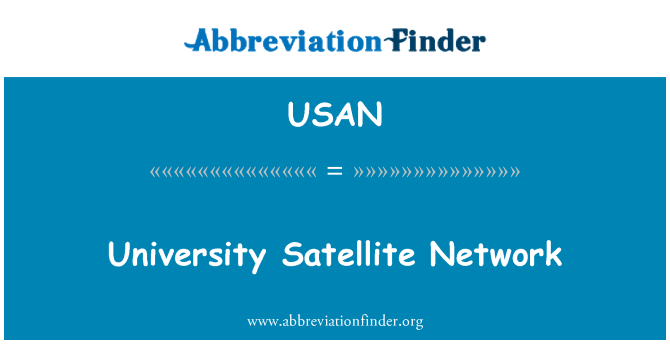USAN: Red de satélites de la Universidad