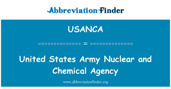 USANCA: ریاست ہائے متحدہ امریکہ فوج کے جوہری اور کیمیائی ایجنسی