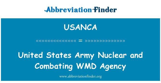 USANCA: ریاست ہائے متحدہ امریکہ فوجی ایٹمی ہتھیاروں اور مقابلہ ومد ایجنسی
