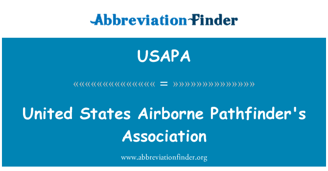 USAPA: United States Airborne Pathfinder's Association