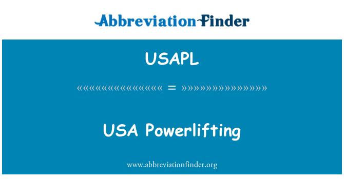 USAPL: USA Powerlifting