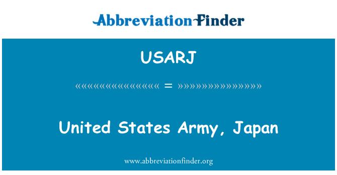 USARJ: Birleşik Devletler Ordusu, Japonya