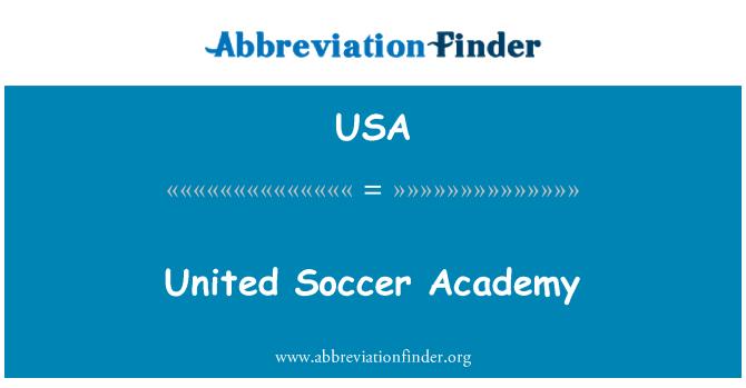 USA: United Soccer Academy