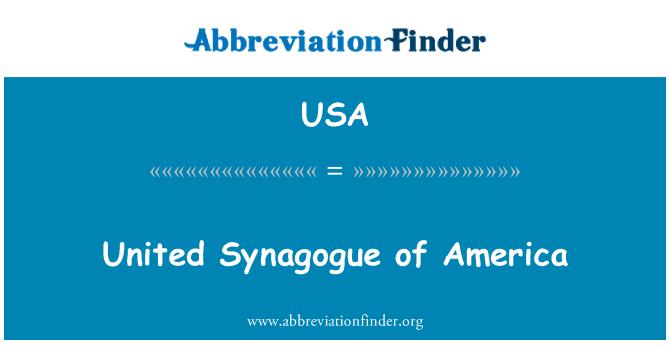 USA: 美国合一犹太教