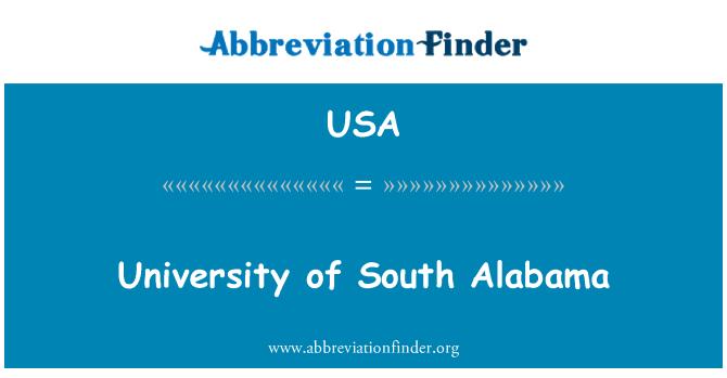 USA: University of South Alabama