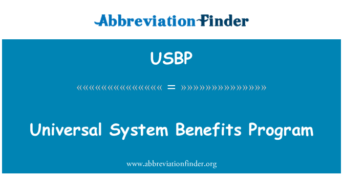 USBP: Programa de beneficios del sistema universal