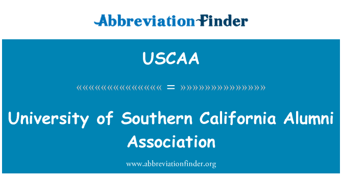USCAA: University of Southern California Alumni Association