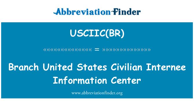 USCIIC(BR): Rama Unidos Centro de información de internados de Estados civiles