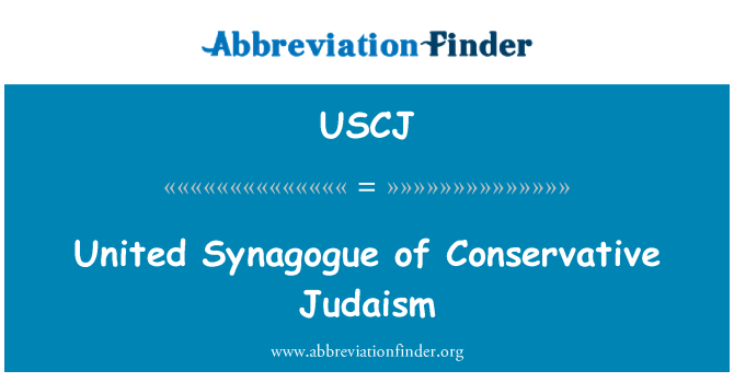 USCJ: United Synagogue of Conservative Judaism