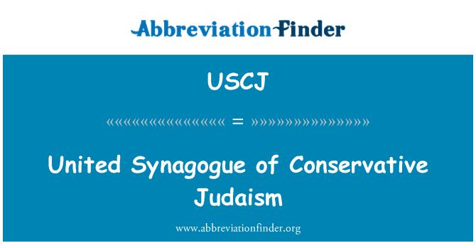 USCJ: Sinagoga unida del Judaísmo conservador