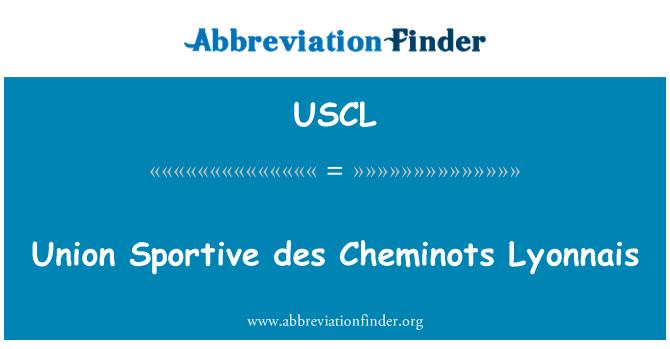USCL: Union Sportive des Cheminots Lyonnais