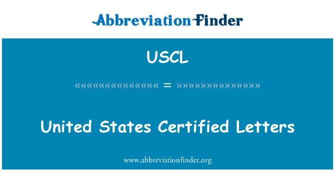 USCL: Estados Unidos cartas certificadas