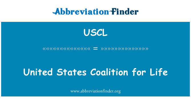 USCL: United States Coalition for Life