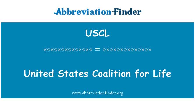 USCL: Birleşik Devletler Koalisyonu ömür boyu
