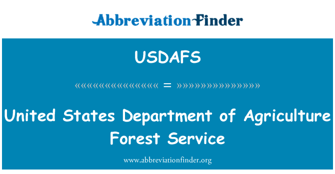 USDAFS: United States Department of Agriculture Forest Service