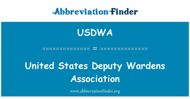 USDWA: United States Deputy Wardens Association