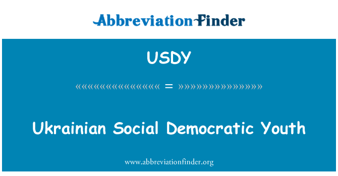 USDY: Ukrainian Social Democratic Youth