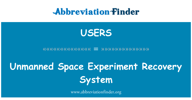 USERS: Unmanned Space Experiment Recovery System