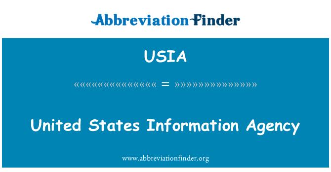 USIA: Agencia de información de Estados Unidos