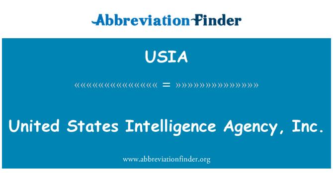 USIA: Agencia de inteligencia de Estados Unidos, Inc.